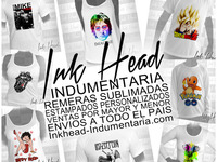 Ink Head Indumentaria - Remeras Sublimadas por mayor y menor - remeras por mayor