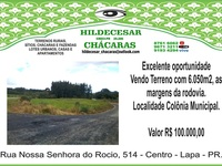 Excelente Terreno as Margens Da Rodovia Pr 427 - Rural - Lapa