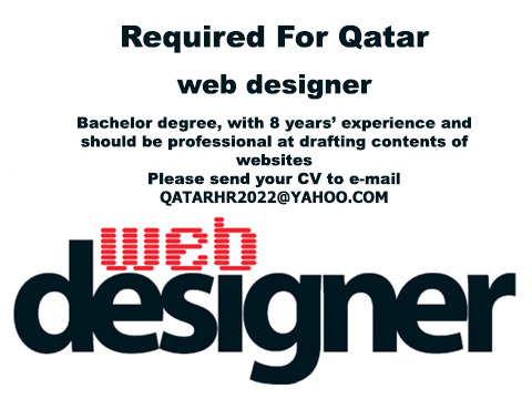 Web designer- Required for Qatar (Only Moroccan and Egyptian) - Arte / Desenho - Todo o Brasil