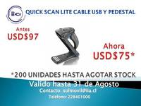 Lector Quick Scan Lite Cable Usb Y Pedestal Datalogic - Internet / Multimedia - Todo Chile