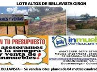 Vendo Terreno en Altos de Bellavista Giron - Terrenos - Girón