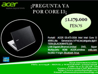 "ACER E5-473-35X4, INTEL CORE I3 4005U, HDD 1T, RAM 4GB, 14""  systechnology.co - Computadoras / Informática - Todo Colombia"