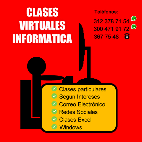 Clases Virtuales De InformáTica Exce Word Power Point Whatsapp  - Internet / Multimedia - Todo Colombia