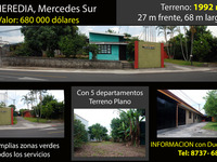 1992 m² de terreno, con 5 departamantos en Heredia, Mercedes Sur - Casas en Venta - Heredia
