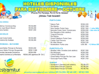 Hoteles disponibles para Sept - Oct. 2016 - Turismo - Santo Domingo Este
