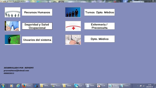 HISTORIA CLINICA OCUPACIONAL SOFTWARE ECUADOR - Internet / Multimedia - Quito