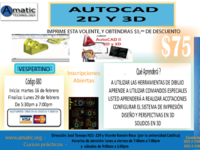 AMATIC TECHNOLOGY  -CURSO DE : AUTOCAD 2D Y 3D - INSCRIPCIONES ABIERTAS - cono