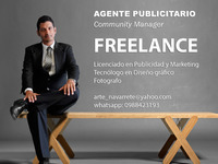 Agente Publicitario - Community Manager - Freelance - Marketing y Publicidad - Guayaquil