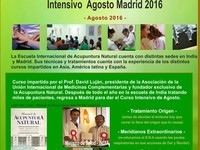 Curso Intensivo de Acupuntura Natural Agosto 2016 Madrid - Universidades - Madrid