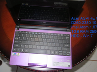 "Acer Aspire One D260-2380 de 10.1"" Intel Atom 1.67 Ghz 250 BG 1 GB De Ram Hdd-Win 7- - Computadoras / Informática - Distrito Central"
