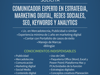 SOLICITO PARA DIGITAL MARKETING - Marketing y Publicidad - Tijuana