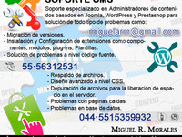 Soporte CMS Joomla, Wordpress, Prestashop - Internet / Multimedia - Todo México