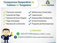 Compra de brocas de carbide y tungsteno - chatarra