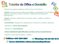 Tutorías de Office a Domicilio: Word / Excel / Powerpoint - Cursos de Informática / Multimedia - Panamá