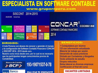 Software Contable, Concar, Siscont, Pdt, Planilla, Plame, Pdt - Contabilidad / Finanzas - Lima
