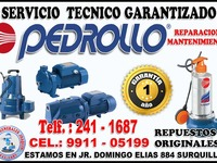 Servicio técnico PEDROLLO reparación de electrobombas - Otros Servicios - Lima