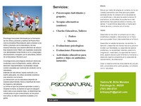 Psiconatural- Y. Brito, Psicoterapias Alternativas - Salud