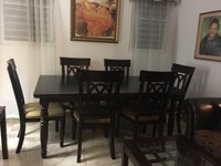 Juego de comerdor en madera y 6 sillas (Dining room table and 6 chairs) - Muebles / Electrodomésticos - Aguadilla