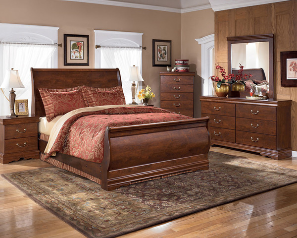 sleigh queen bedroom set 6pcs by ashley $599 - Muebles ...