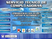 Servicio técnico especializado en computación.   - Internet / Multimedia - Falls Church