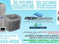 Sistemas residenciales de A/C - FRESH SOLUTIONS INC. - 281-653-4333 - Construcciones - Houston