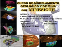 Minesight 8.0-Datamine Studio 3.22- Vulcan 8.5- Gemes 6.5  - Otros Cursos - San Francisco
