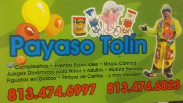 PAYASO TOLIN - Eventos - Tampa
