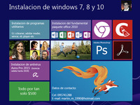 Instalación de windows 7, 8 y 10  - Internet / Multimedia - Montevideo