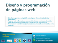Diseño de paginas web - Internet / Multimedia - Caracas